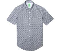 Kurzarm-Hemd, Slim Fit, Popeline