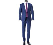 Anzug, Slim Fit, Schurwolle, blau