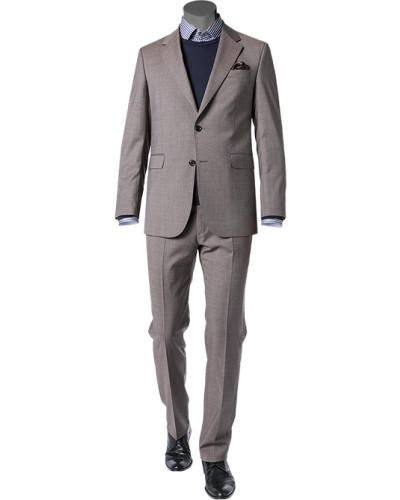 Anzug, Schurwolle, graubraun