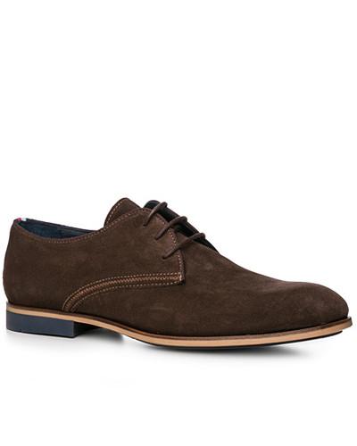Tommy Hilfiger Herren Schuhe Derby, Veloursleder, dunkelbraun