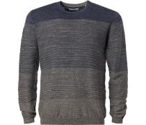 Pullover, Baumwolle, -navy gestreift