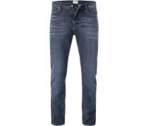 Jeans, Slim Fit, Baumwoll-Stretch, blaugrau
