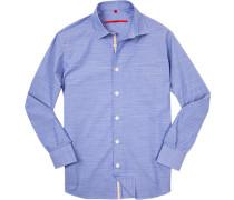 Hemd, Modern Fit, Chambray, hellblau