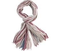 Schal, Baumwolle, -rot-blau gestreift