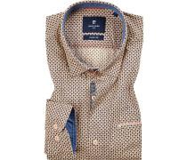 Hemd, Modern Fit, Popeline, -navy