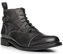 Schuhe Stiefeletten, Leder, anthrazit