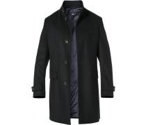 Mantel, Schurwolle-Kaschmir, nachtblau