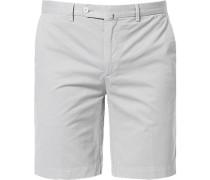Hose Shorts, Baumwolle, silbergrau