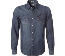 Hemd, Slim Fit, Blue-Jeans, indigo