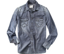 Hemd, Baumwolle, dunkelblau