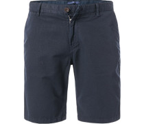 Hose Shorts, Modern Fit, Leinen, navy