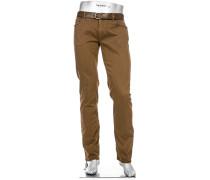 Hose Pipe, Regular Slim Fit, Baumwoll-Stretch T400
