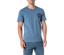 Schlafanzug Pyjama-Oberteil, Baumwoll-Jersey