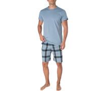 Schlafanzug Pyjama, Baumwoll-Jersey