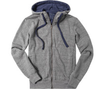 Sweatjacke, Slim Fit, Microfaser