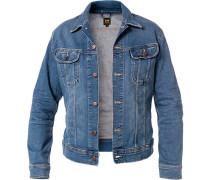 Jeansjacke, Slim Fit, Baumwolle, jeansblau