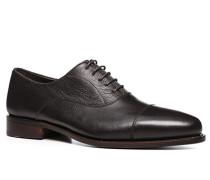 Schuhe Oxford, Kalbleder, dunkelbraun