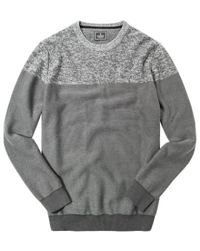 Pullover, Baumwolle, graubraun gemustert