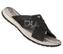 Schuhe Sandalen, Leder-Textil