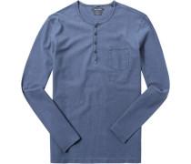 T-Shirt Longsleeve, Shaped Fit, Baumwolle
