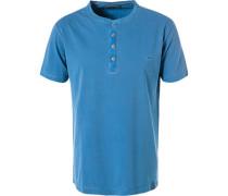 T-Shirt Polo, Baumwolle, himmelblau