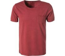 T-Shirt, Baumwolle, dunkelrot