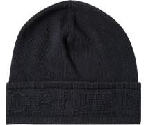 Mütze, Wolle-Kaschmir, nachtblau