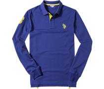 Polo-Shirt, Baumwoll-Jersey, königsblau