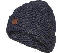 Mütze, Wolle, graublau meliert