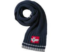 Schal, Wolle, marineblau