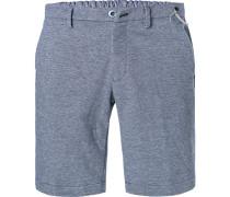 Hose Shorts, Baumwoll-Stretch, meliert
