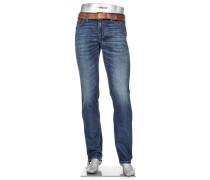Jeans Pipe, Regular Slim Fit, Baumwoll-Stretch