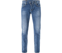 Jeans, Comfort Fit, Baumwoll-Stretch