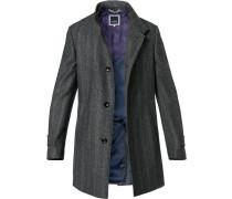 Mantel, Woll-Mix, gemustert