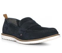 Schuhe Loafer, Veloursleder