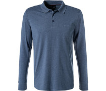 Polo-Shirt Polo, Baumwoll-Jersey, rauchblau