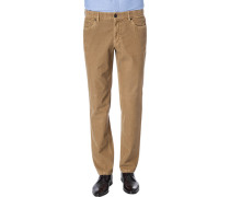 Hose Seth, Tailored Fit, Cord, camel
