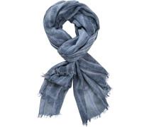 Schal, Baumwolle, rauchblau gestreift