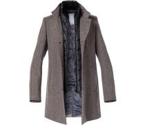 Mantel, Microfaser-Wolle, meliert