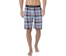 Pyjamashorts Herren, Baumwolle