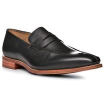 Schuhe Loafer, Leder, nero