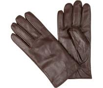 Handschuhe, Lammleder, rotbraun