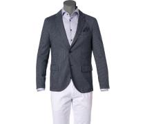 Sakko, Modern Fit, Jersey, dunkelblau-grau