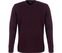 Pullover Sweater, Baumwolle, chianti