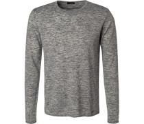 Pullover, Wolle-Leinen, meliert
