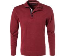 Pullover, Baumwolle-Seide, dunkelrot