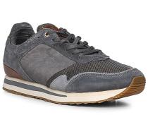 Schuhe Sneaker, Leder-Textil, rauchblau