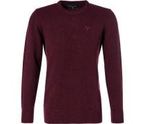 Pullover, Wolle-Seide, rubinrot meliert