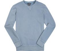 Sweatshirt, Shaped Fit, Baumwolle, hellblau