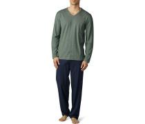 Schlafanzug Pyjama, Baumwolle mit Klimaanlage